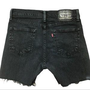Levi's high rise denim stretch jean shorts black